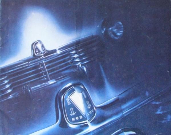 Hudson Commodore Modellprogramm 1945 Automobilprospekt