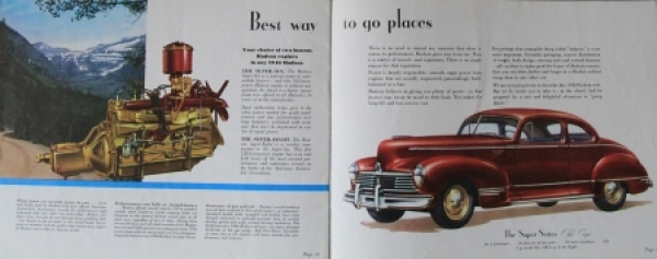 Hudson Commodore Modellprogramm 1945 Automobilprospekt 1
