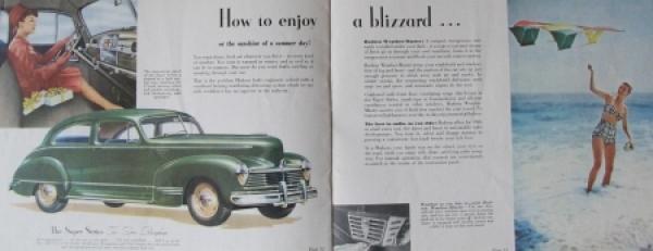 Hudson Commodore Modellprogramm 1945 Automobilprospekt 2