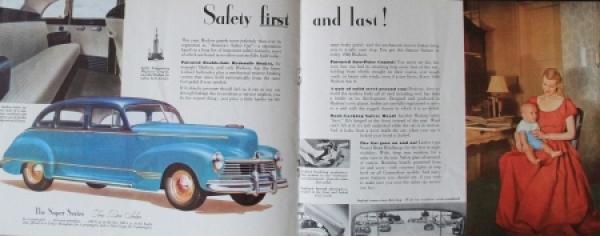 Hudson Commodore Modellprogramm 1945 Automobilprospekt 3