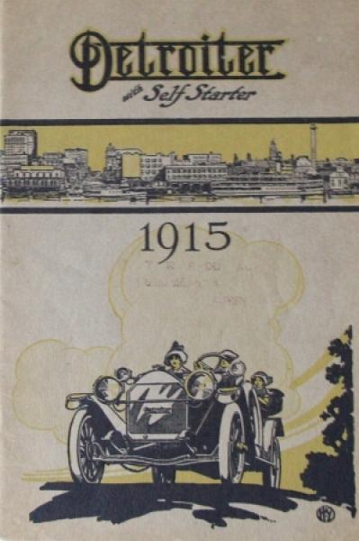 Detroiter Motor Company Modellprogramm 1915 Automobilprospekt
