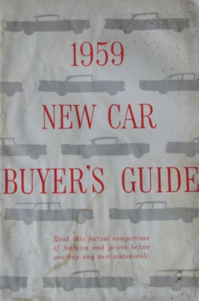 "Ford Mercury ""New Car Buyer's Guide"" 1959 Automobilprospekt"