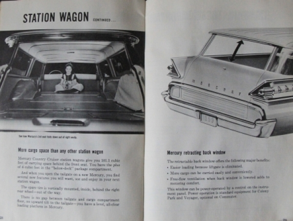 "Ford Mercury ""New Car Buyer's Guide"" 1959 Automobilprospekt 2"