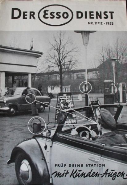 """""""Der Esso Dienst"""" Tankstellen-Magazin 1953"""