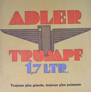 Adler Trumpf 1,7 Liter 1937 Automobilprospekt