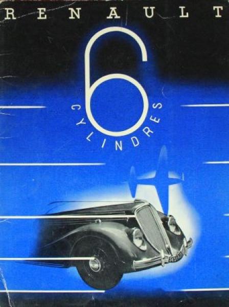 Renault 6 Cylindres Modellprogramm 1935 Automobilprospekt