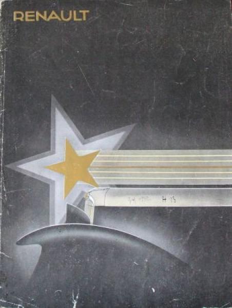 Renault Stella Modellprogramm 1932 Automobilprospekt