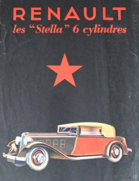 Renault Stella 6 Cylindres 1932 Automobilprospekt