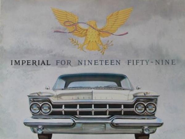 Chrysler Imperial Modellprogramm 1959 Automobilprospekt