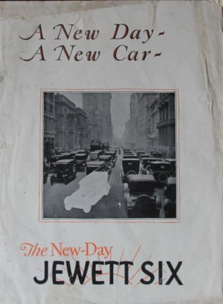 "Jewett Six ""A new day"" Modellprogramm 1923 Automobilprospekt"