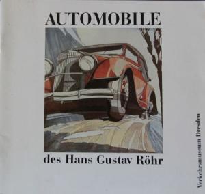 "Ruby ""Automobile des Hans Gustav Röhr"" Röhr-Fahrzeughistorie 1989"