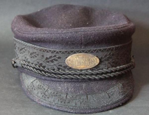 """Hansa-Lloyd Fahrermütze """"Prinz Heinrich"""" 1913 mit Hansa-Emblem"""