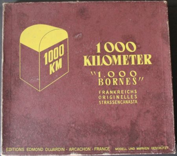 "Dujardin ""1.000 Kilometer - 1000 Bornes"" Canasta-Autobrettspiel 1961 in Originalbox 1"