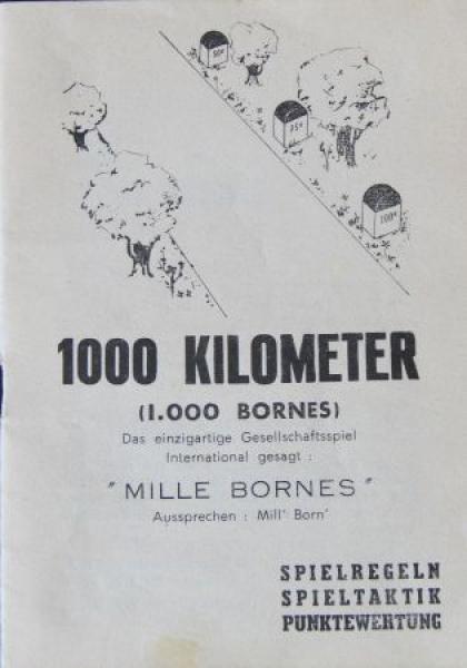 "Dujardin ""1.000 Kilometer - 1000 Bornes"" Canasta-Autobrettspiel 1961 in Originalbox 3"