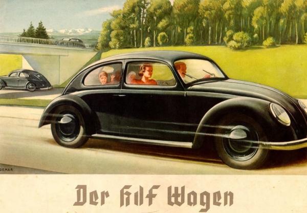 Volkswagen KdF-Wagen 1939 Automobilprospekt