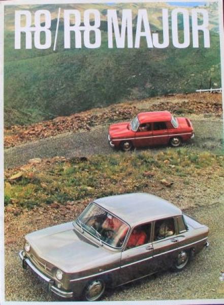 Renault R8 Major 1965 Automobilprospekt