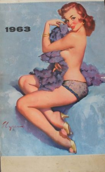 Brown & Bigelow Pin-up-Kalender Gli Elvgren 1963