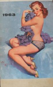 Brown & Bigelow Pin-up-Kalender Gli Elvgren 1963