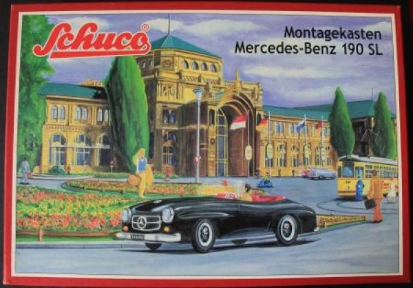 Schuco Mercedes-Benz 190 SL limitierter Montagekasten mit Zubehör in Originalbox 2000