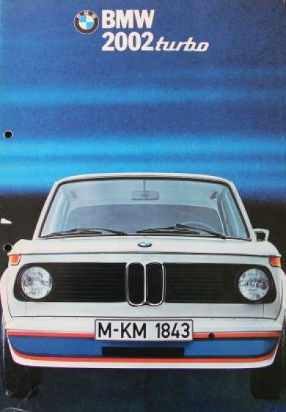 BMW 2002 Turbo Modellprogramm 1972 Automobilprospekt