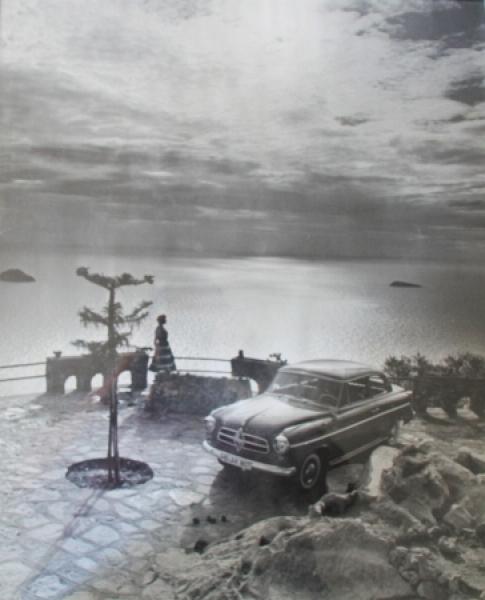 Borgward Isabella Werbplakat 1955 Riviera-Motiv Repro