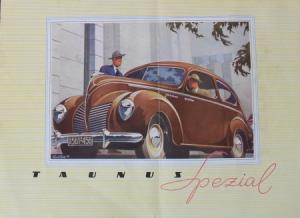 Ford Taunus Spezial Modellprogramm 1950 Reuters Zeichnungen Automobilprospekt