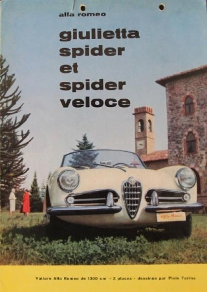 Alfa Romeo Giulietta Spider Veloce 1960 Automobilprospekt