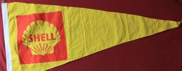 Shell Tankstellen Werbe-Fahne aus Stoff 1955