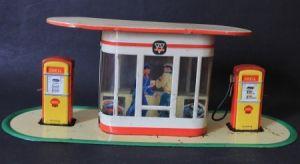 Arnold Shell-Tankstelle 1958 Blechmodell