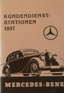 Mercedes-Benz Kundendienst-Stationen 1937 Werbebrochure