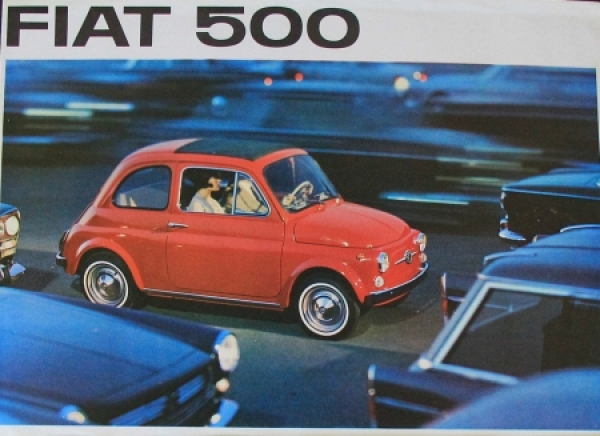 Fiat 500 Modellprogramm 1961 Automobilprospekt