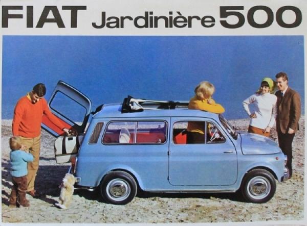 Fiat Jardinere 500 Modellprogramm 1964 Automobilprospekt