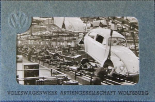 Volkswagen Bildermappe Werk Wolfsburg 1965 mit 8 Photos