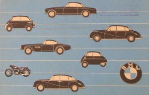 BMW Modellprogramm 1958 Automobilprospekt