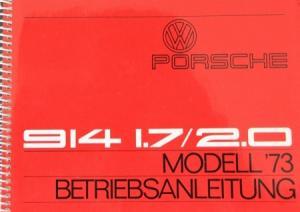 VW-Porsche 914 2.0 Betriebsanleitung 1973