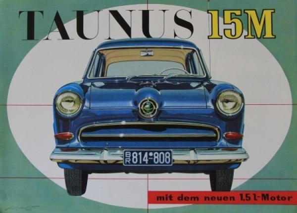 Ford Taunus 15M Modellprogramm 1955 Gotschke Zeichnungen Automobilprospekt