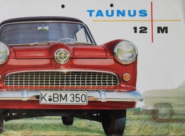Ford Taunus 12M Modellprogramm 1955 Automobilprospekt