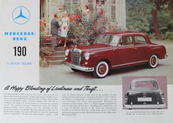 Mercedes-Benz 190 4 door Sedan 1959 Automobilprospekt