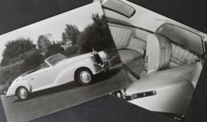 Mercedes-Benz 220 Cabriolet 1955 zwei Werks-Photos
