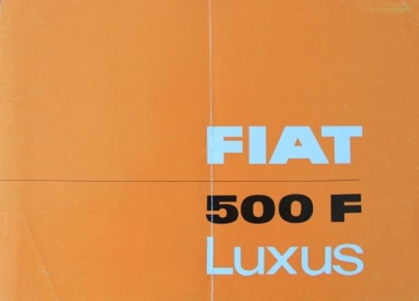 Fiat 500 F Luxus 1962 Automobilprospekt
