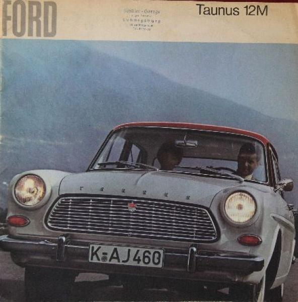 Ford Taunus 12 M 1962 Automobilprospekt