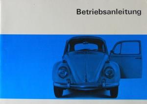 Volkswagen Käfer 1300 Limousine, Cabriolet 1966 Betriebsanleitung