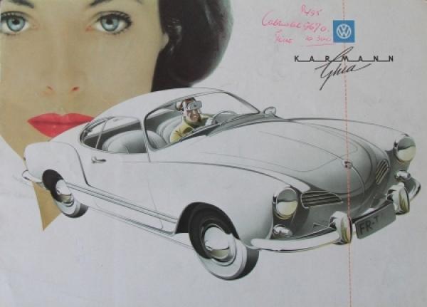 Volkswagen Karmann Ghia 1959 Reutersmotive Automobilprospekt