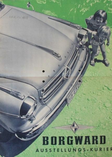 """Borgward """"Ausstellungs-Kurier"""" 1959 Automobilprospekt"""