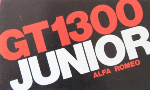 Alfa Romeo GT 1300 Junior 1971 Automobilprospekt