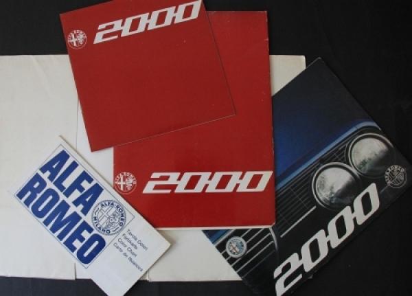 Alfa Romeo 2000 Verkaufsmappe 1971 Automobilprospekt