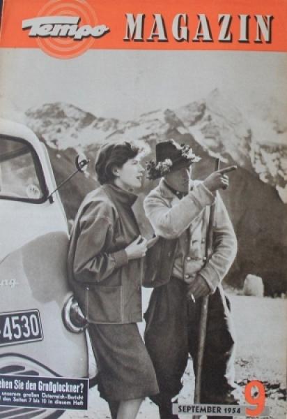 """Tempo Magazin"" Vidal & Sohn Firmenmagazin 1954"