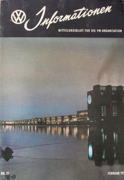 """""""Volkswagen Informationen"""" Mitteilungsblatt 1955 VW-Magazin"""