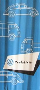 Volkswagen Käfer Preisliste 1954 Automobilprospekt