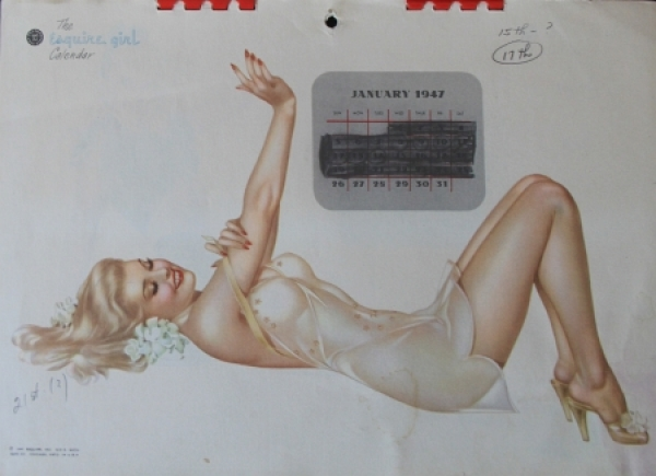 Alberto Vargas Esquire Pin-up Kalender 1947 0